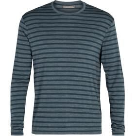 Icebreaker Utility Explr LS Crew Shirt Stripe Men serene blue